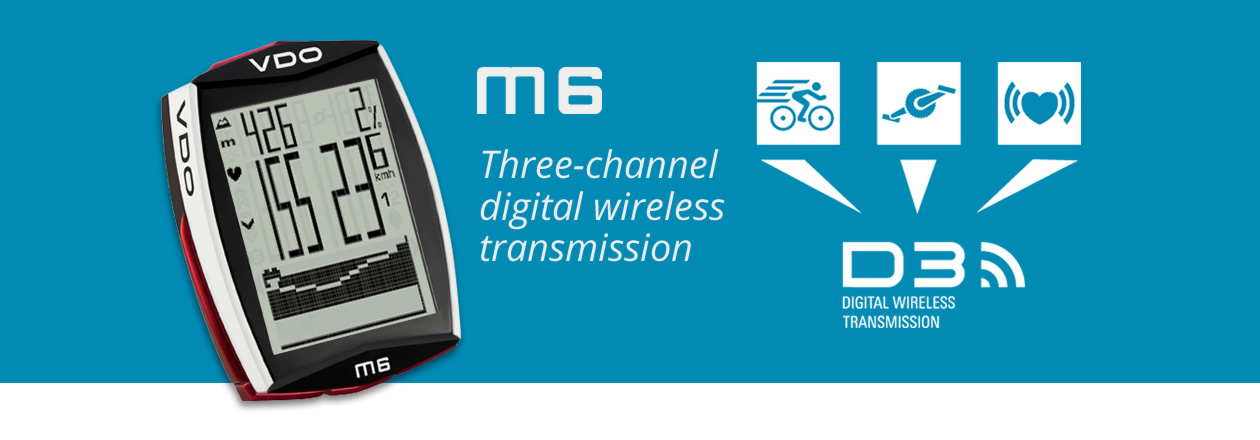 M6 Three-channel digital wireless transmission